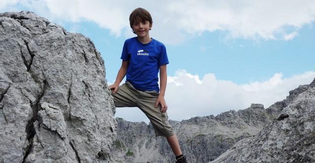 Wandern über die Alpen mit Kindern
